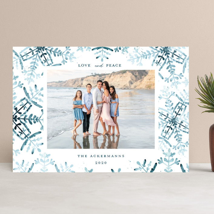 """""""Wintery Flurry"""" - Bohemian Holiday Photo Cards in Frosted by Angel Walker."""