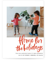 This is a red holiday photo card by Vine and Thistle called Home Sweet Holiday Home with standard printing on smooth signature in standard.