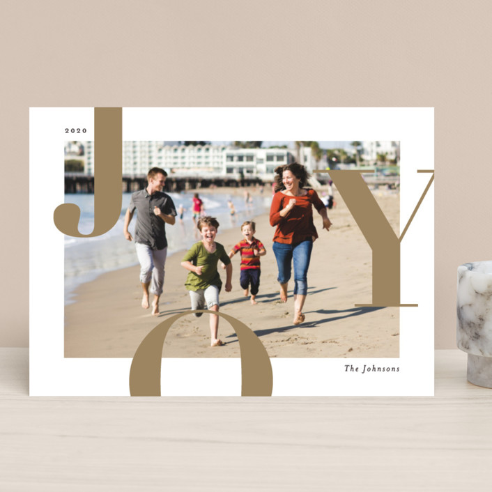 """""""Supreme Joy"""" - Holiday Photo Cards in Toffee by Michelle Taylor."""