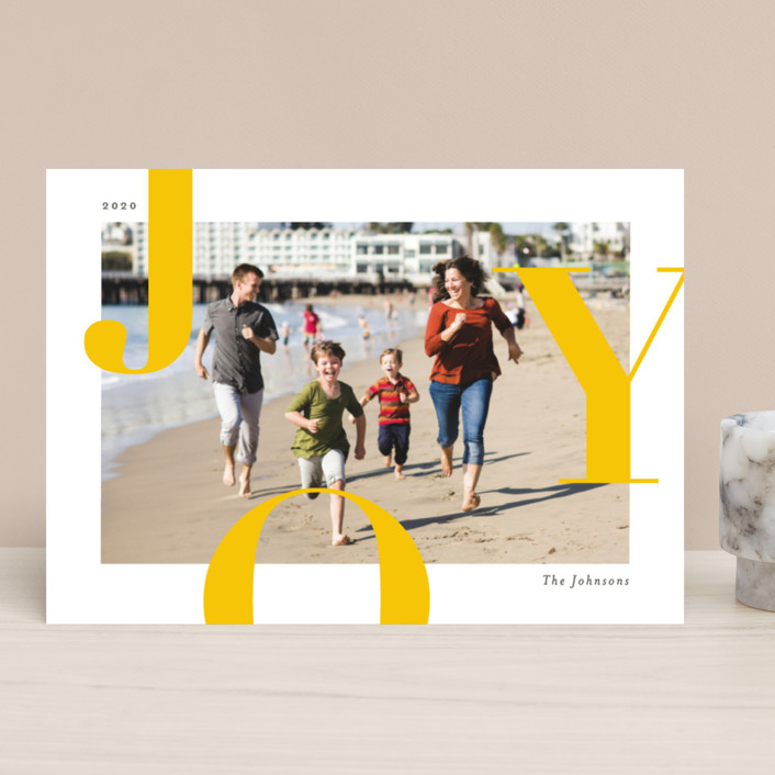"""""""Supreme Joy"""" - Holiday Photo Cards in Sunny by Michelle Taylor."""