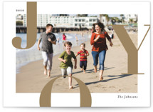 This is a brown holiday photo card by Michelle Taylor called Supreme Joy with standard printing on smooth signature in standard.