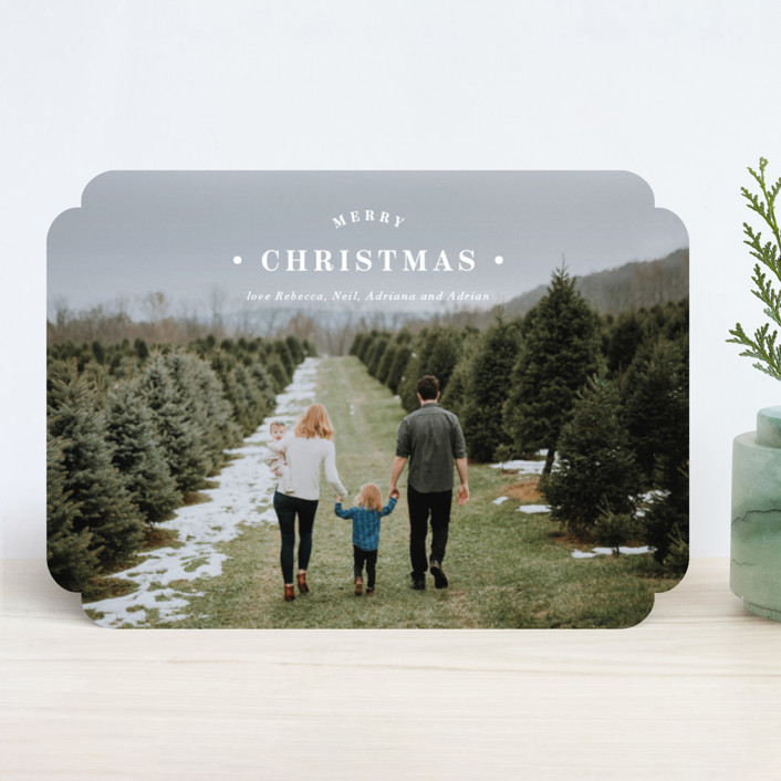 """Merrily Framed"" - Holiday Photo Cards in Snow by Kasia Labocki."