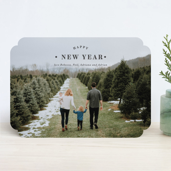 """""""Merrily Framed"""" - Holiday Photo Cards in Snow by Kasia Labocki."""