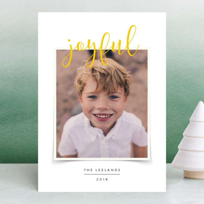 """""""Favorite Photo"""" - Holiday Photo Cards in Frosting by Jody Wody."""