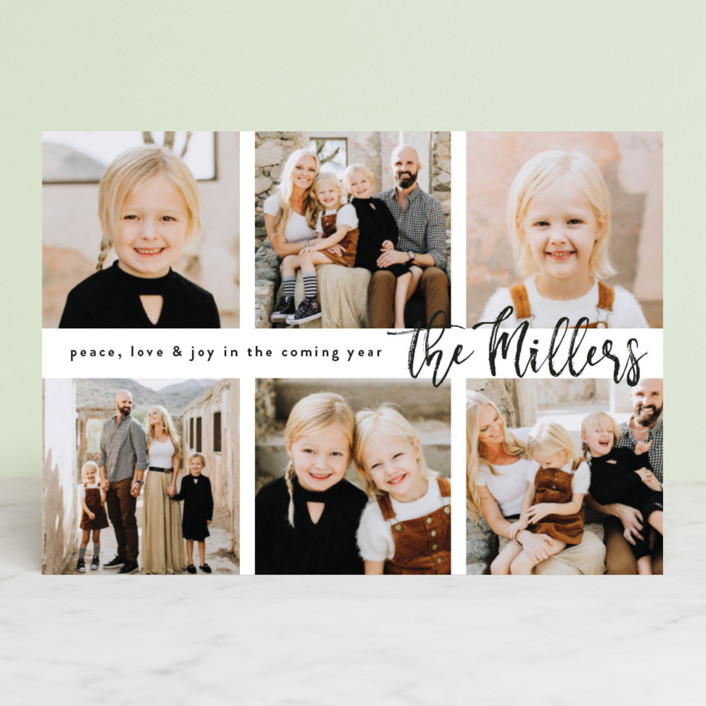 """Half Dozen"" - Holiday Photo Cards in Onyx by Owl and Toad."
