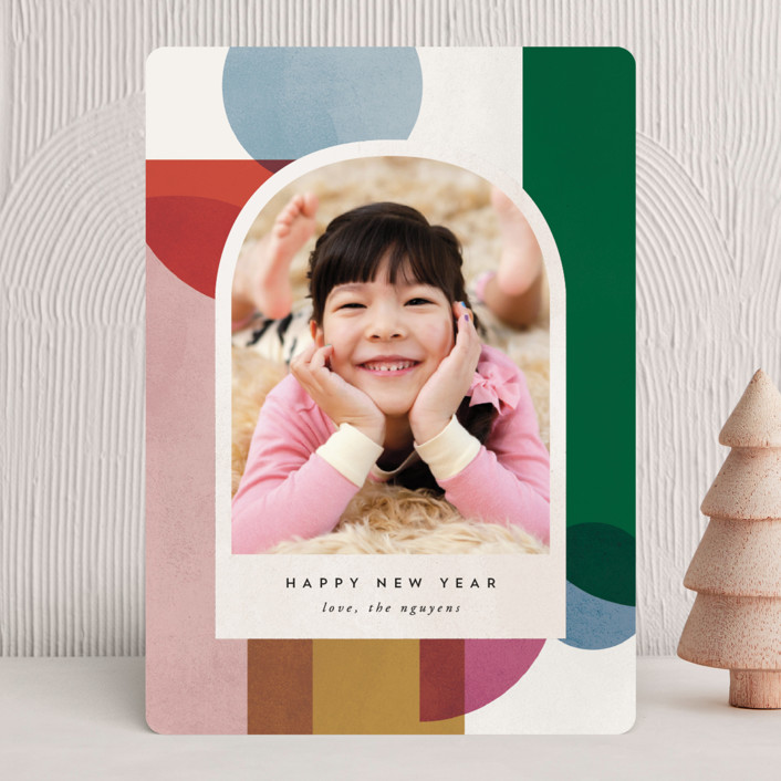 """Jolly Holiday"" - Modern Holiday Photo Cards in Chalk by carly reed walker."