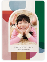 This is a white holiday photo card by carly reed walker called Jolly Holiday with standard printing on smooth signature in standard.