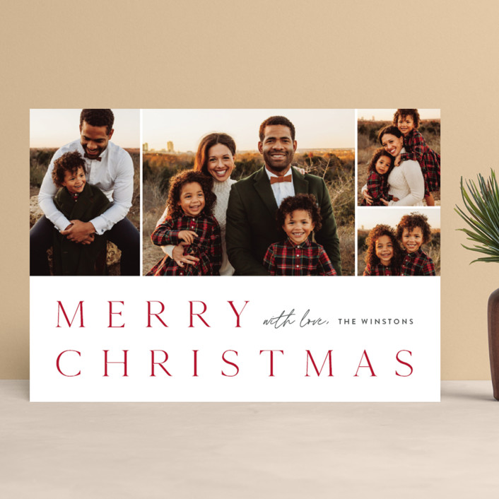 """Photo book"" - Holiday Photo Cards in Holly Berry by Stacey Meacham."