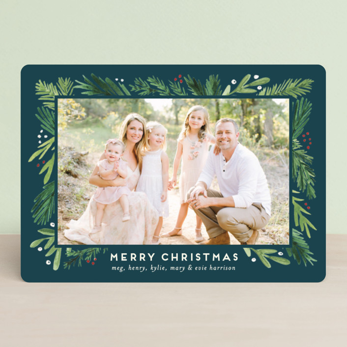 """""""Branches Framed"""" - Holiday Photo Cards in Juniper by Amy Kross."""