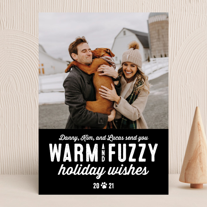 """""""Warm Fuzzies"""" - Funny Holiday Photo Cards in Lagoon by Lea Delaveris."""