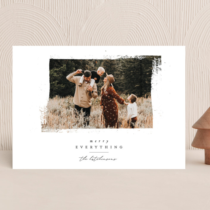 """""""Textured Wishes"""" - Vintage Holiday Photo Cards in Elf Shoes by Ally Madison."""