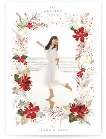 romantic christmas Holiday Photo Cards