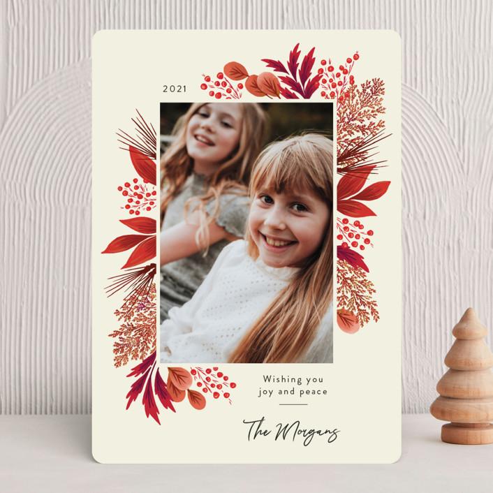 Crimson Holiday Card