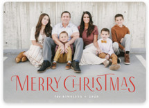 This is a red holiday photo card by Jennifer Wick called Together with standard printing on smooth signature in standard.