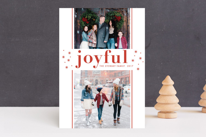 """""""So Merry"""" - Holiday Photo Cards in Rouge by Bethan."""
