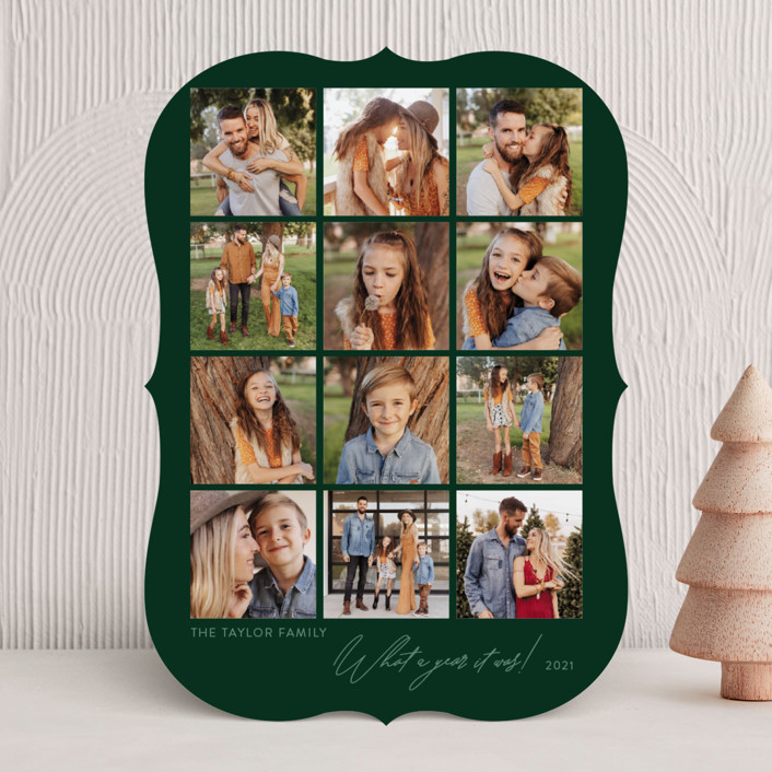 """""""this was us"""" - Holiday Photo Cards in Evergreen by Robin Ott."""
