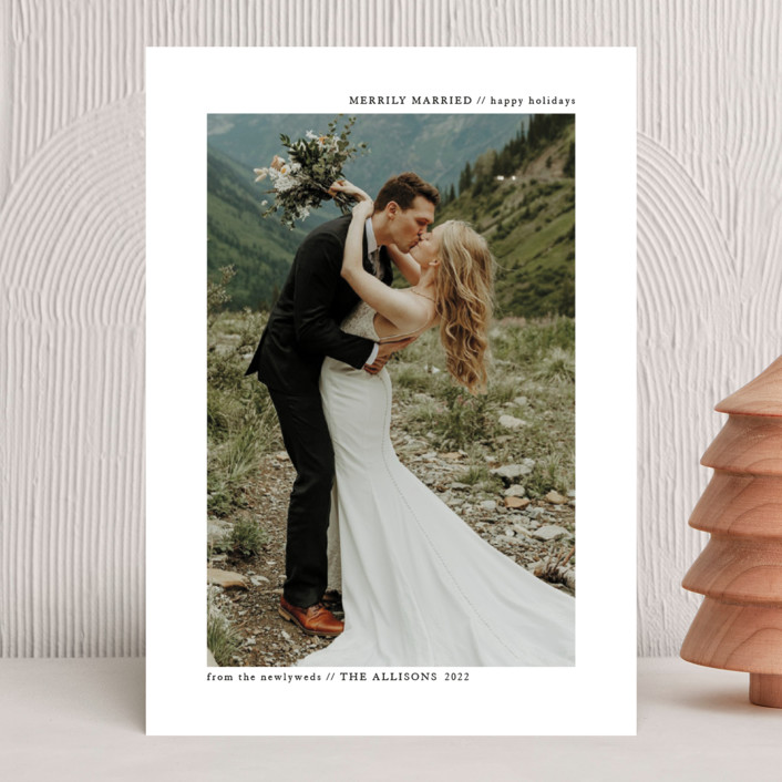 """""""plain and clean"""" - Holiday Photo Cards in Snow by Roxanne Fay."""