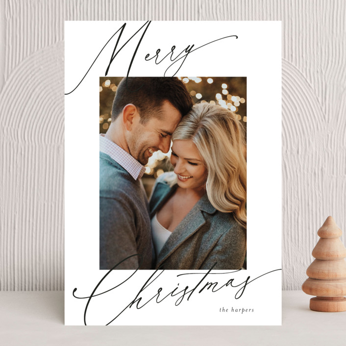 """""""scripted greeting"""" - Holiday Photo Cards in Ink by Kasia Labocki."""