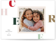 This is a red holiday photo card by Creo Study called Filter fun with standard printing on smooth signature in standard.