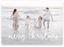 This is a white holiday photo card by Melanie Severin called Playful Script with standard printing on smooth signature in standard.