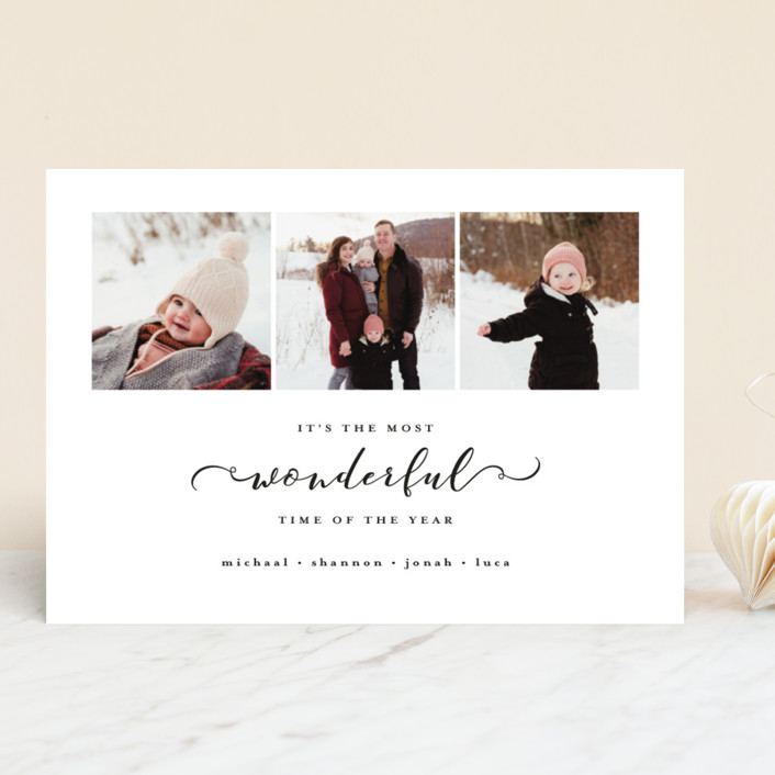 """""""Most Wonderful Time of the Year"""" - Holiday Photo Cards in Onyx by Kasia Labocki."""