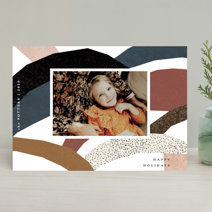 """imaginary hills"" - Modern Holiday Photo Cards in Rainbow Rock by Sumak Studio."