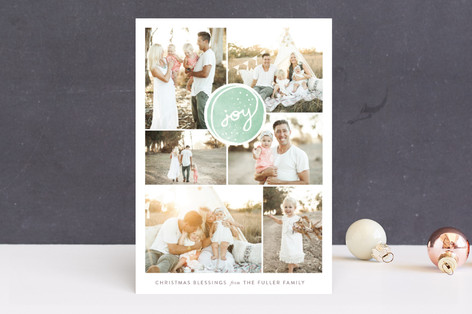 Soft Encircling Joy Holiday Photo Cards