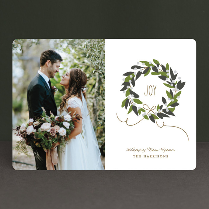 """Magnolia Wreath"" - Holiday Photo Cards in Magnolia by Jennifer Postorino."