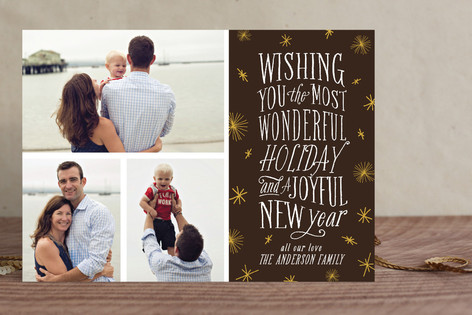 Joyful Type Holiday Photo Cards