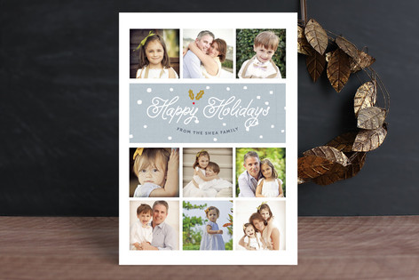 Snowdrop Holiday Photo Cards