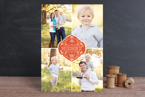 Festive Merry Holiday Photo Cards