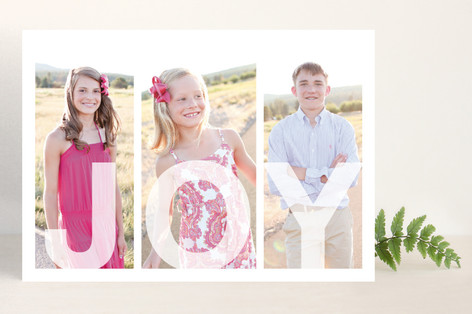 Tri Joyful Family Holiday Photo Cards