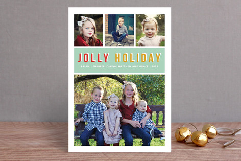 Jolly Type Holiday Photo Cards