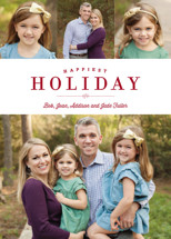 Sparkling Border Holiday Photo Cards By Carrie ONeal