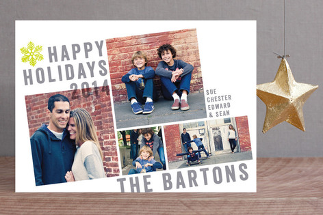 Breaking the Grid Holiday Photo Cards