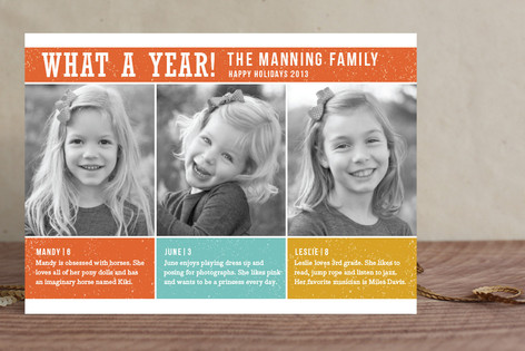 What a Year Holiday Photo Cards