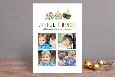 Joyful Ornaments Holiday Photo Cards