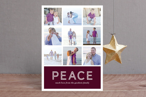 Multi-Peace Holiday Photo Cards