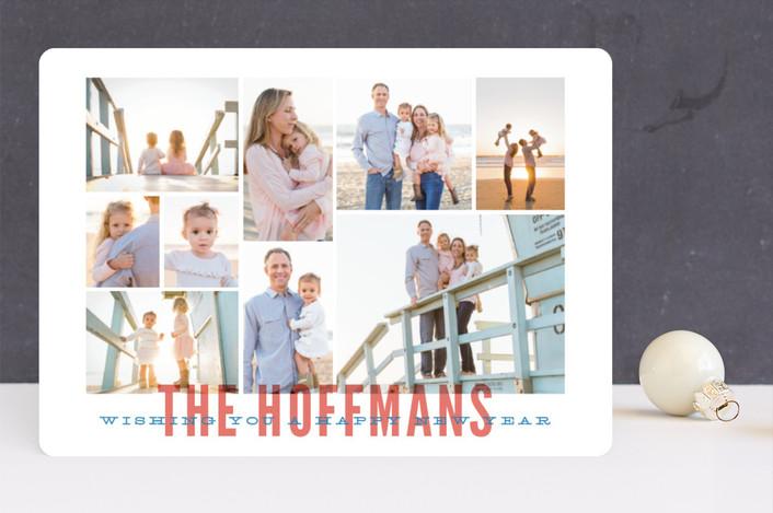"""""""Lotsa Photos"""" - Holiday Photo Cards in Navy by Jody Wody."""