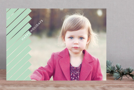 Geometric Fir Holiday Photo Cards