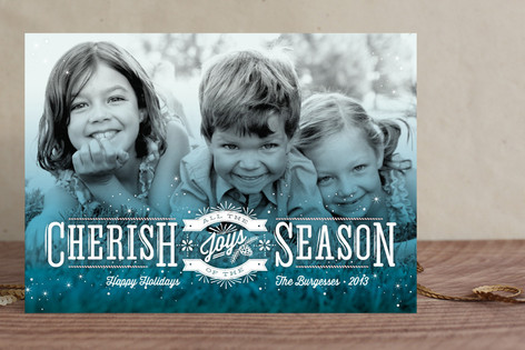 Cherish the Joys Holiday Photo Cards