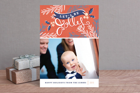 Let's Be Jolly Holiday Photo Cards