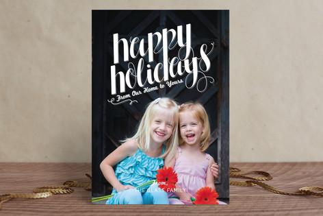 Simple Flourish Holiday Photo Cards