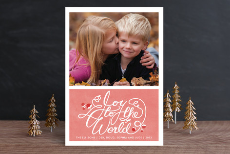 Joyful Watercolor Holiday Photo Cards