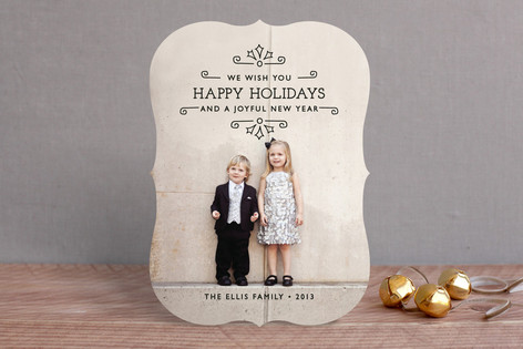 Holiday Scrolls Holiday Photo Cards