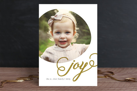 Joyous Circle Holiday Photo Cards