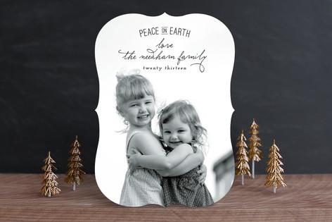 Elegant Peace Holiday Photo Cards