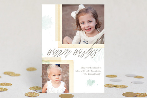 Ethereal Greetings Holiday Photo Cards