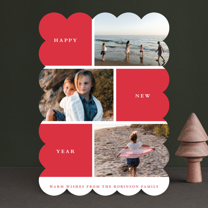 """Photo Session"" - Holiday Photo Cards in Cherry by Stacey Meacham."