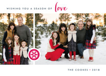 Season of Love Holiday Photo Cards By Three Kisses Studio